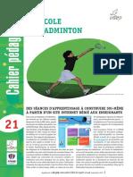 cahier pédagogique badminton
