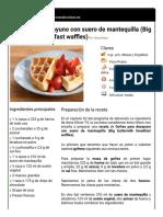 Hoja de impresión de Gofres para desayuno con suero de mantequilla (Big buttermilk breakfast waffles)