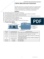 FTTB-OR110 Series Optical Receivers Instructions