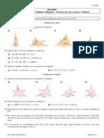 Relacion Tema 5. Trigonometria. Teoremas Del Seno y Coseno. Problemas