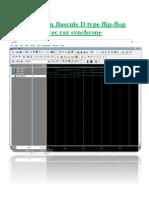 Simulation Bascule D type Flip Flop + LFSR