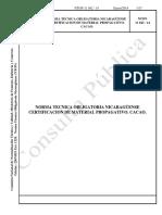 1. PROY NTON  11 042 - 14  Cacao Certificación de Material Propagativo.