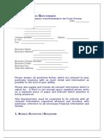 Prospectus Retail Questionnaire