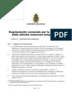 Bozza - Regolamento comunale per la disciplina delle attività rumorose temporanee