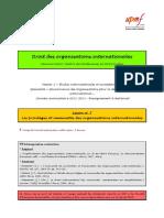 (DOI) (ESE) Leçon n°7 (Les privilèges et immunités des OI)