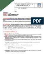GUÍA NIVELATORIA 2020 11° L. CATELLANA
