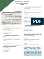 9ª- Examen de Lengua Castellana (Autoguardado)