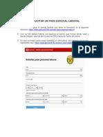 Instructivo - Cómo solicitar un pase especial laboral