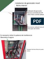 Gaia rapida de instalacion de generador movil