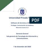 Soft Servicios Privilegio - Comunicación via telefonica
