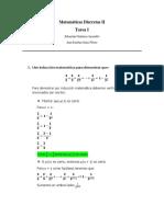 Matemáticas Discretas - Tarea II