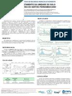 Comportamento da umidade do solo em regiões do sertão pernambucano