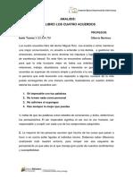 Analisis Libro Los Cuatro Acuerdos