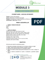 STUDENT GUIDE - MODULE 3. VOCABULARY