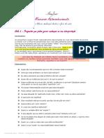 Minicurso Autoconhecimento Fabiana Santos Exercicio Da Aula 3 Questionamento Da Interpretacao