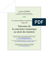 GUSDORF_Georges_Naissance de La Conscience Romantique Au Siecle Des Lumieres