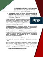 Convocatoria Morena Local 300121