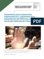 La Planeacion e Implementacion Interpretacion Del Patrimonio en Parques Nacionales Naturales de Colombia