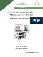 Fascicule TP pompe centrifuge