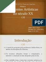 Trabalho de Historia Correntes Artisticas Do Seculo Xx