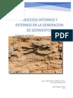 Procesos Internos y Externos en La Generación de Sedimentos