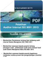 AUDIT INTERNAL TRAINING 2018