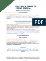 RECETARIO COCINA ROMANA