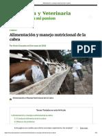 Alimentación y manejo nutricional de la cabra