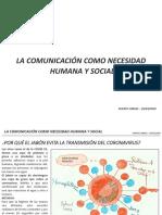 LA COMUNICACIÓN COMO NECESIDAD HUMANA Y SOCIAL