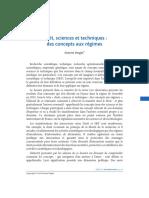 Droit, sciences et techniques   des concepts aux régimes