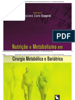 Livro Nutrição e Metabolismo Em Cirurgia Metabólica e Bariátrica