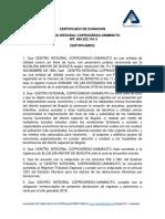 1. Certificado de Donacion Alpina Sa