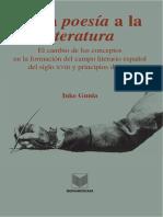 De La Poesia a La Literatura_ e - Inke Gunia