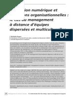 Révolution numérique et mutations organisationnelles