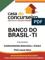 Apostila Banco Do Brasil Ti Escriturario Parte 1 Conhecimentos Bancarios Lucas Silva