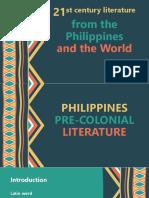 PHILIPPINES pre colonial literature