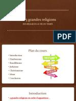 Présentation 5 grandes religions