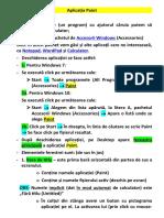 Aplicația Paint_introducere