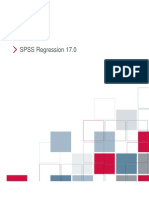 SPSS Regression 17.0