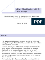 2009 the Anatomy of a Mixed Model Analysis, With R's Mlm-ohp