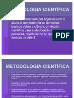 METODOLOGIA CIENTÍFICA - aula 1