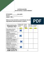Autoevaluación cuarto período