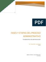 Fases y etapas del proceso administrativo INCM