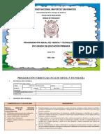 28-01PROGRAMACIÓN CURRICULAR ANUAL DE CIENCIA Y TECNOLOGÍA  6 °