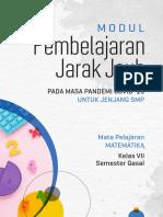 Modul PJJ SMP - Matematika - Digital