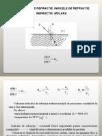CURS 3. Fenomene optice.Refractia.Indice de refractie.Refractie molara