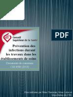 Powerpoint - Fiches Techniques - Recommandations en Matière de Prévention Des Infections Durant Les Travaux de Construction, De Rénovation Et Les Inte