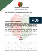 AD-ART & Peraturan organisasi