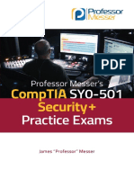 Professor Messer's CompTIA SY0-501 Security+ Practice Exams - v105