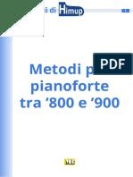 Metodi per pianoforte tra '800 e '900